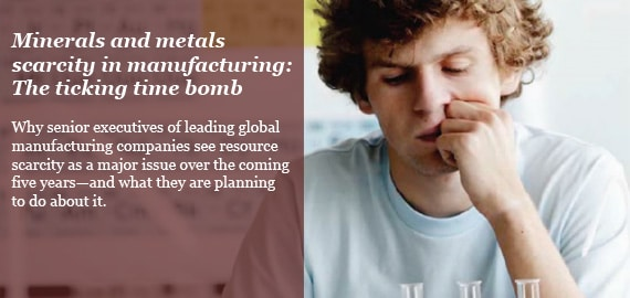 Minerals and metals scarcity in manufacturing: The ticking time bomb