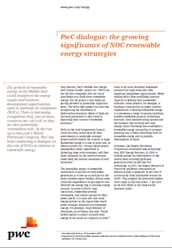 PwC dialogue: the growing significance of NOC renewable energy strategies