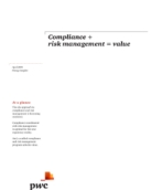 Compliance plus risk management equals value