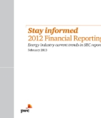 Stay informed 2012 Financial Reporting Survey