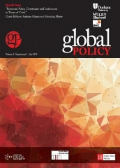 Global Policy & PwC Special Issue:  Economic Policy, Governance and Institutions in Times of Crisis