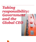 Taking responsibility: Government and the Global CEO