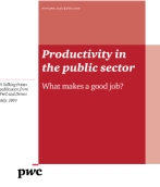 Productivity in the public sector - what makes a good job?
