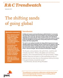 R&C Trendwatch - The shifting sands of going global