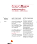 Structured finance: Accounting developments for special purpose entities