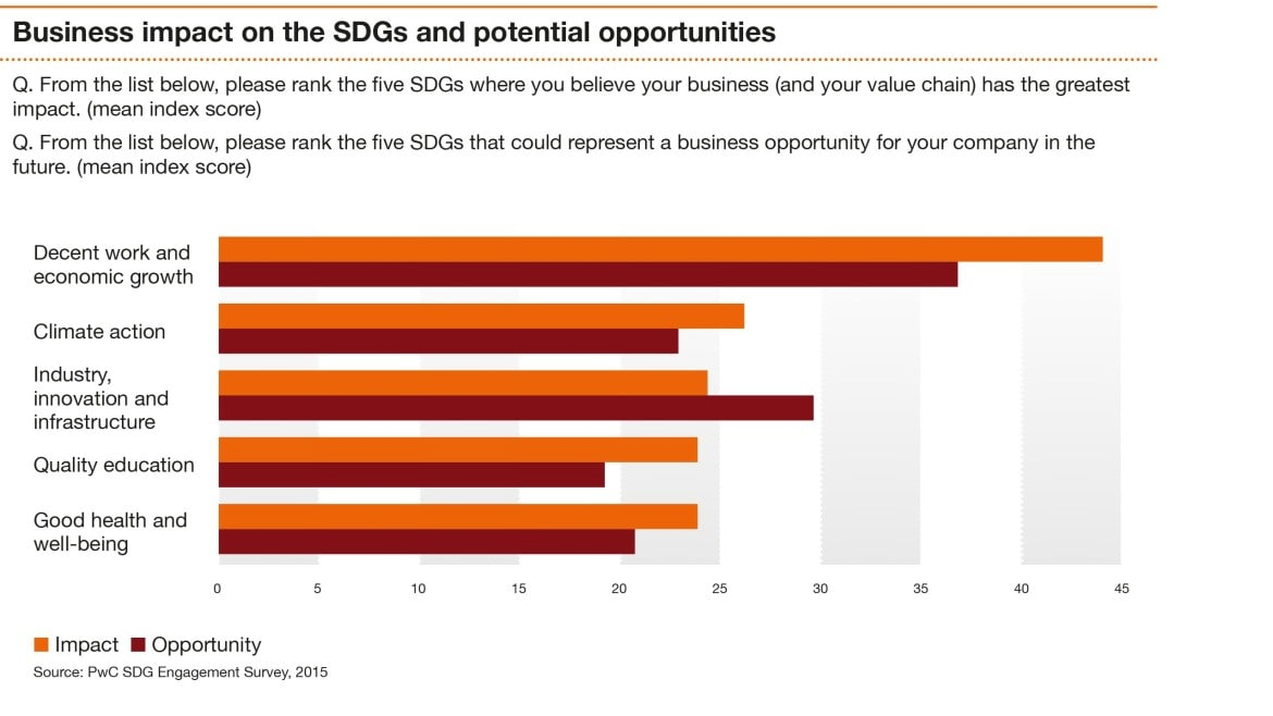 New global goals: are they business critical? :PwC