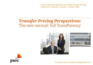Transfer Pricing Perspectives - The new normal: full TransParency