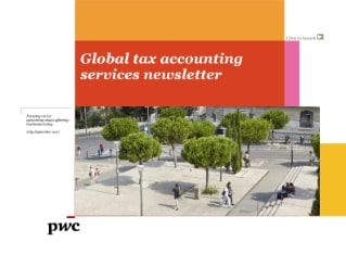 Global Tax Accounting Services Newsletter (July - Sept 2017)