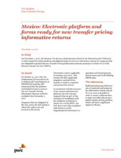 Mexico: Electronic platform and forms ready for new transfer pricing informative returns