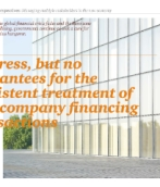 Progress, but no guarantees for the consistent treatment of intercompany financing transactions