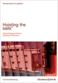 Hoisting the sails: Global Shipping & Ports Capability Statement