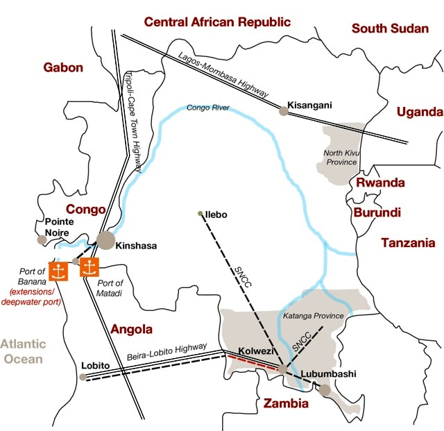 Democratic Republic of Congos DRC infrastructure investment
