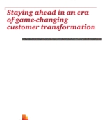 Staying ahead in an era of game-changing customer transformation
