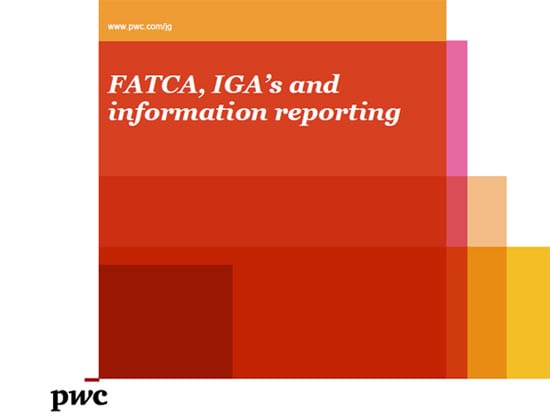 PwC seminars - FATCA update - March 2013