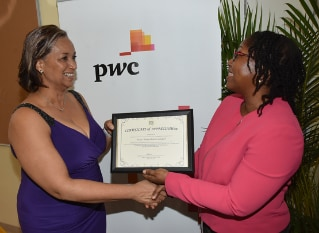 PwC awarded by Utech's faculty of engineering and computing