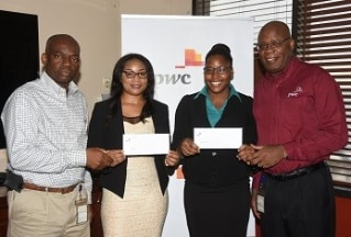 PwC awards scholarships to top accounting students at UWI and UTECH