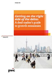 Getting on the right side of the delta:A deal-maker's guide to growth economies