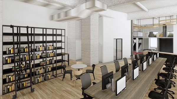 可動式のフレキシブルな作業空間