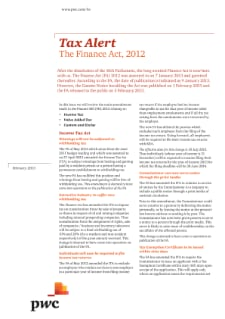 The Finance Act, 2012