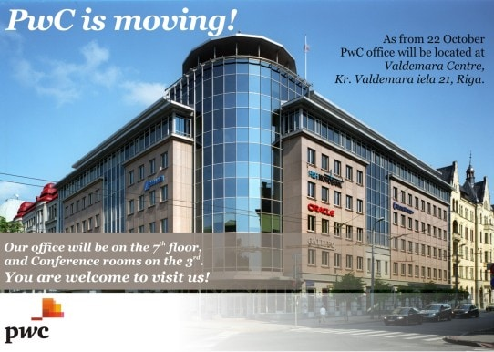 PwC office will be located at the Valdemara Centre