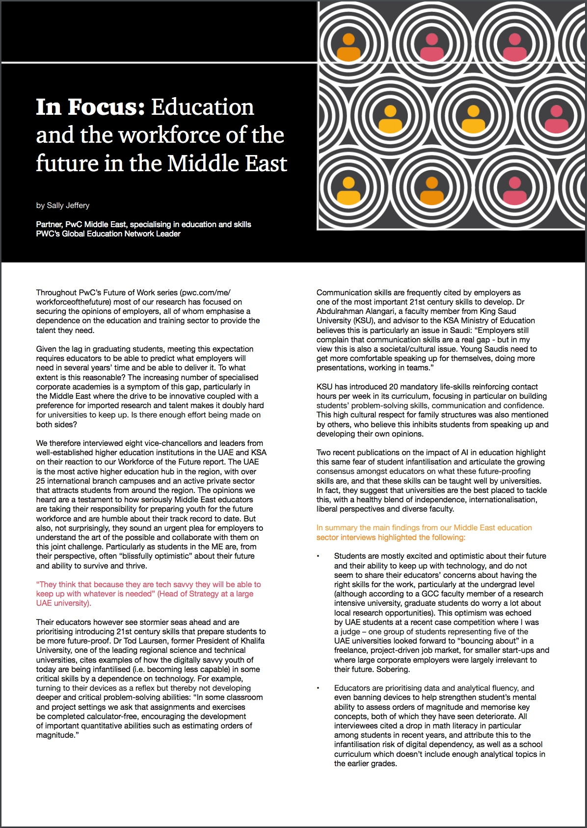 In Focus: Education and the workforce of the future in the Middle