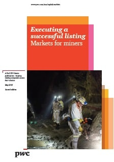 Executing a successful listing. Markets for miners
