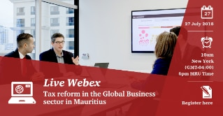 Tax reform in the Global Business sector in Mauritius