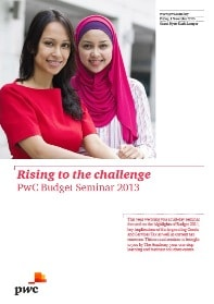 PwC Budget Seminar 2013: Rising to the challenge