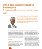 PwC Nigeria - 2013 Tax environment in retrospect