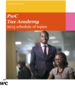PwC Tax Academy - 2015 Curriculum
