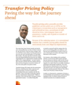 Transfer Pricing Policy: Paving the way for the journey ahead