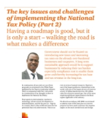 The key issues and challenges of implementing the National Tax Policy (Part 2)