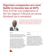 Nigerian companies are now liable to income tax at 60%