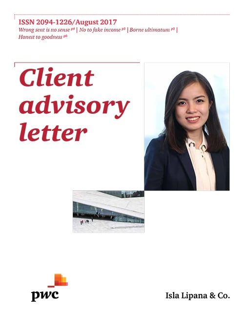 Client Advisory Letter August 2017 Pwc Philippines