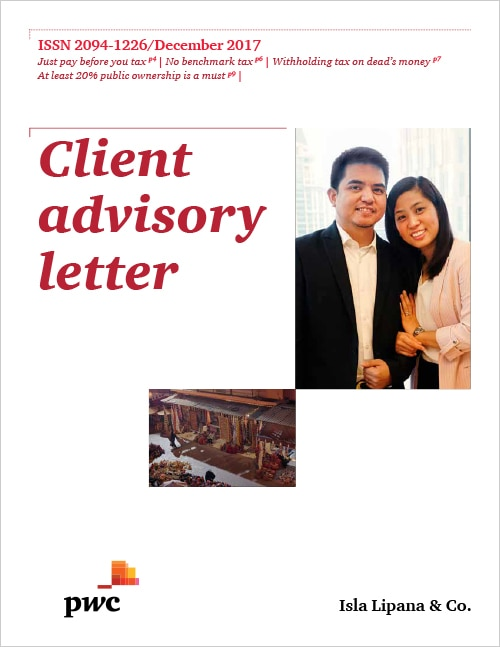 Client Advisory Letter (December 2017) | PwC Philippines