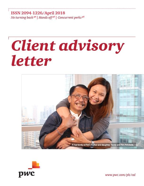 Client Advisory Letter (April 2018) | PwC Philippines