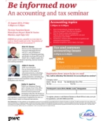Be informed now: An accounting and tax seminar (15 August 2014)