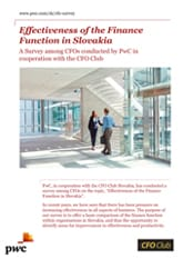 PwC: Effectiveness of the Finance Function in Slovakia