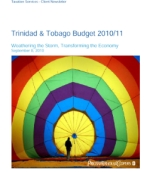 PwC Trinidad & Tobago: T&T National Budget 2011 Review