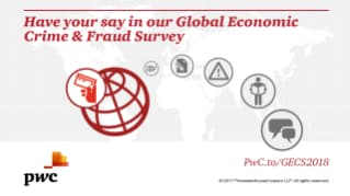 Launch of 2018 PwC Global Economic Crime and Fraud Survey