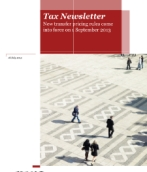 New transfer pricing rules come into force on 1 September 2013