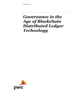 Governance in the Age of Blockchain Distributed Ledger Technology