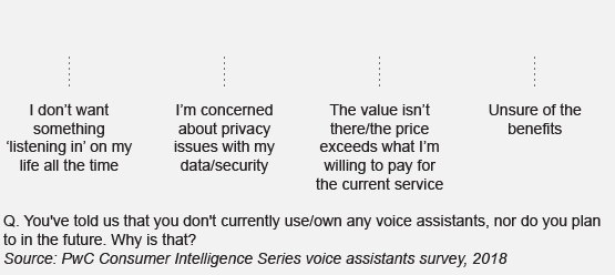 Some consumers see voice assistants as a risk to their privacy