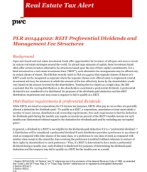 REIT Preferential dividends and management fee structures
