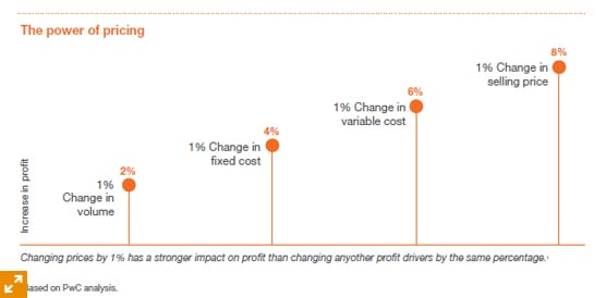The power of pricing: impact on profits