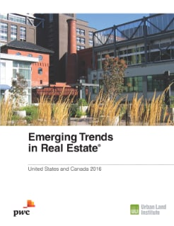Emerging Trends in Real Estate The outlook for 2016 cover