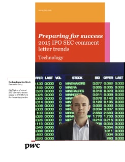 Technology IPO: 2015 SEC comment letter trends cover