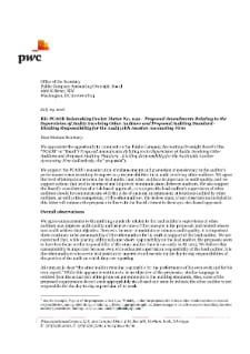 PwC comments on PCAOB reproposal on changes to the auditor's report