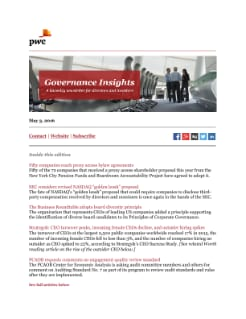 Governance Insights: July 26, 2016 cover