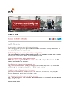 Governance Insights: April 5, 2016 cover